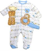 Jungle Outfit, Giraffe blankie & tiger rattle